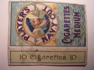 Player's Navy Cut cigarette pack