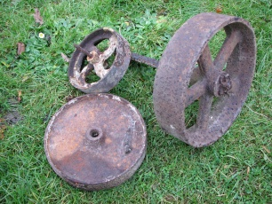 old iron wheels