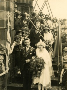 John Eric Lindsey and Mabel Ormondroyd wedding
