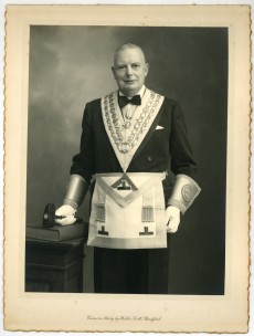 John Eric Lindsey in his freemason's regalia