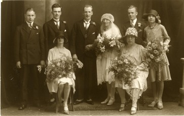 Sargent Crowther and Cissie Ormondroyd wedding party